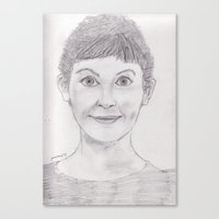 amelie Canvas Prints featuring Amelie by jamestomgray