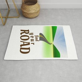 Find Your Road Not Taken or Less Traveled Prints Map Goes On Forever Rug
