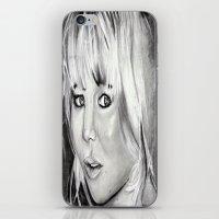 jennifer lawrence iPhone & iPod Skins featuring Jennifer Lawrence by Papa-Paparazzi