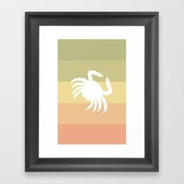 Out At Sea Series - Sideways and Crabby Framed Art Print