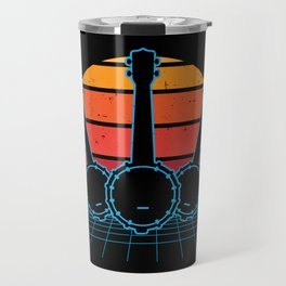 Retro Banjo Banjo Player Gift Travel Mug