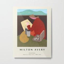 Poster-Milton Avery-Paintress. Metal Print