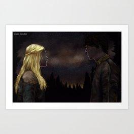 Bellarke - Princess and the King Art Print