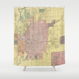 Vintage Map of Indianapolis Indiana (1903) Shower Curtain