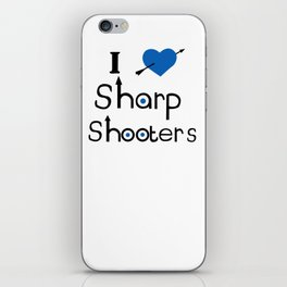 I Love Sharp Shooters iPhone Skin