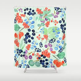 joyful berries Shower Curtain