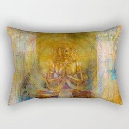 Golden yantra Rectangular Pillow