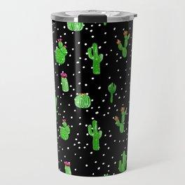 Dotted Cactus Travel Mug