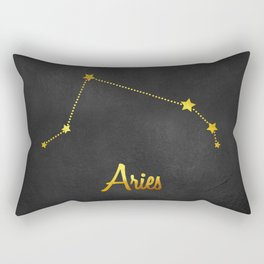 Aries Constellation in gold Rectangular Pillow