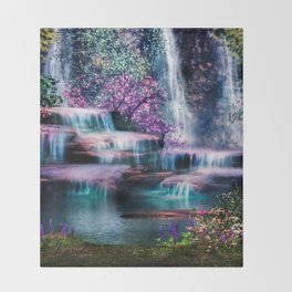 Fantasy Forest Throw Blanket