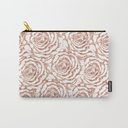 Elegant romantic rose gold roses pattern image Carry-All Pouch