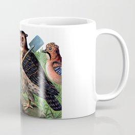 Vintage Owl with Shovel Coffee Mug
