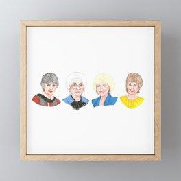Golden Girls Framed Mini Art Print