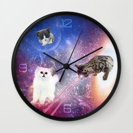 Adventures with Space Cats Wall Clock
