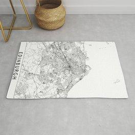 Edinburgh White Map Rug