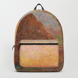 Claude Monet - Grainstacks at Giverny the Evening Sun.jpg Backpack