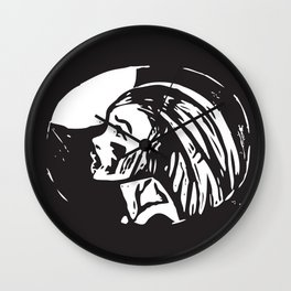 cry to the moon Wall Clock