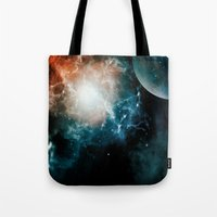 universe Tote Bags featuring Universe by nicky2342
