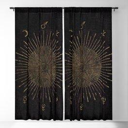Astronomy Symbols Blackout Curtain