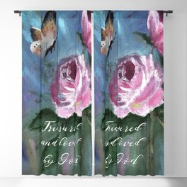 Treasured and Loved by God Blackout Curtain