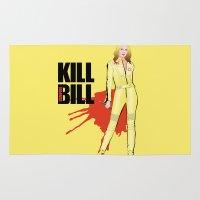 kill bill Area & Throw Rugs featuring Kill Vampire Bill by AriesNamarie