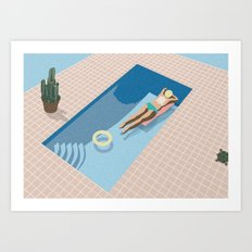 2 COOL 4 POOL Art Print