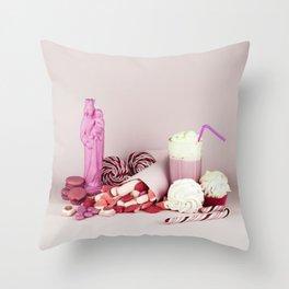 Sweet pink doom - still life Throw Pillow