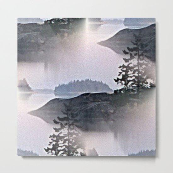 Misty Glow at Archipelago Metal Print