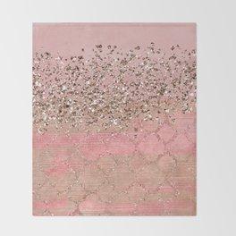 Pink Moroccan Princess Throw Blanket