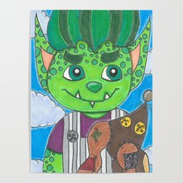 Young Goblin with stuffed dog Poster