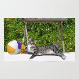 Vacation Time - Beach Bum Kitty Rug