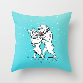 Dancing Dawgs Throw Pillow