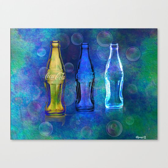 Three Cokes Canvas Print