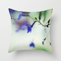 stained glass Throw Pillows featuring stained glass by Kelly Letky