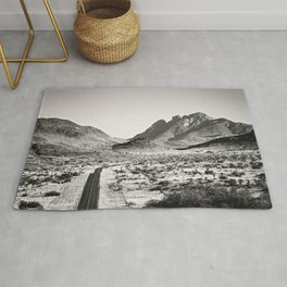 The Lost Highway III Black & White Rug