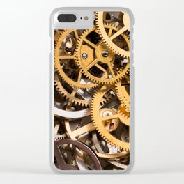 Cogwheels background Clear iPhone Case