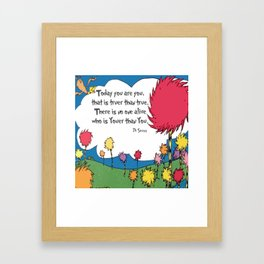 Lorax Quote Framed Art Print