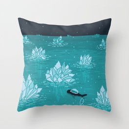 URANUS Space Tourism Travel Poster Throw Pillow