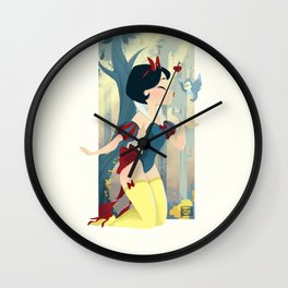 Snow White Pin Up Wall Clock