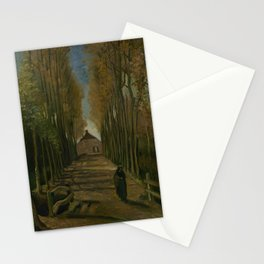 Avenue of Poplars in Autumn Stationery Cards