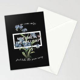 Harry Styles Meet me in the hallway graphic design artwork Stationery Cards
