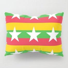 Flag of Myanmar 2-ဗမာ, မြန်မာ, Burma,Burmese,Myanmese,Naypyidaw, Yangon, Rangoon. Pillow Sham