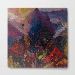 'Sunrise in the mountains, picos de asturias' by David Bomberg Metal Print