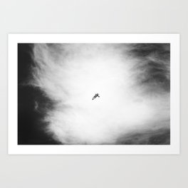 Modern Sky Photograph in Black and White Art Print