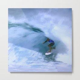 Zen and the Art of Big Wave Surfing Metal Print