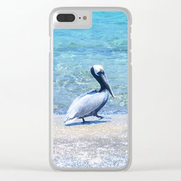 Strutting Pelican Clear iPhone Case