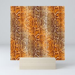 snake skin with bright ombre Mini Art Print