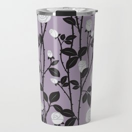 Lavender Rose Pattern Travel Mug