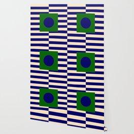 GEOMETRY BLUE&GREEN V Wallpaper