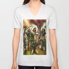 Robin Hood and his Merry Women Unisex V-Neck